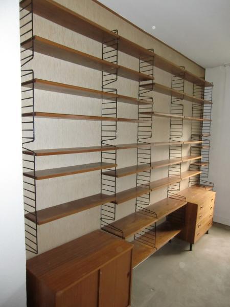 Ruempelstilzchen 60er String Regal System Teakholz